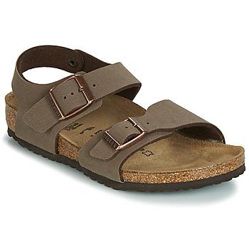 Sapatos Rapaz Sandálias Birkenstock NEW YORK Castanho
