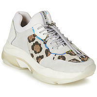 Sapatos Mulher Sapatilhas Bronx BAISLEY Branco / Leopardo
