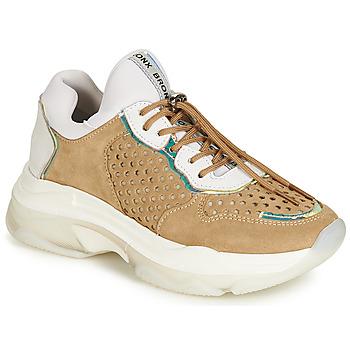 Sapatos Mulher Sapatilhas Bronx BAISLEY Branco / Castanho