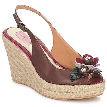 Sapatos Mulher Sandálias C.Petula GLORIA Castanho / Fúchsia