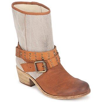 Sapatos Mulher Botas Ikks INES Castanho / Toupeira