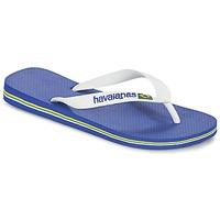 Sapatos Chinelos Havaianas BRASIL LOGO Branco / Marinho
