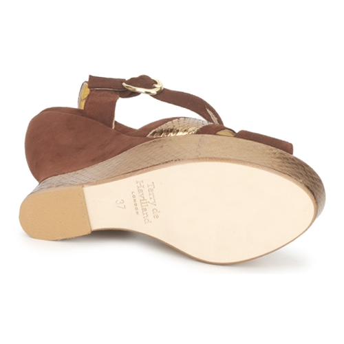 Terry De Havilland Farah Chocolate - Entrega Gratuita Sapatos Sandálias Mulher 21520