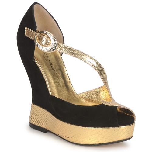 Sapatos Mulher Sandálias Terry de Havilland PENNY Preto-dourado