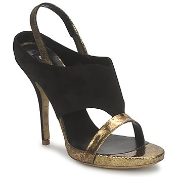 Sapatos Mulher Sandálias Gaspard Yurkievich T4 VAR7 Preto / Dourado