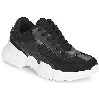 Sapatos Mulher Sapatilhas Yurban JILIBELLE Preto / Branco