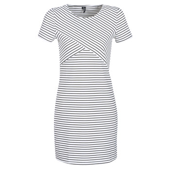 Textil Mulher Vestidos curtos Vero Moda VMVIGGA Branco / Preto