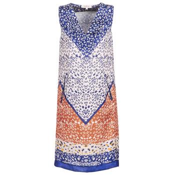Textil Mulher Vestidos curtos Derhy FORTERESSE Branco / Azul / Laranja