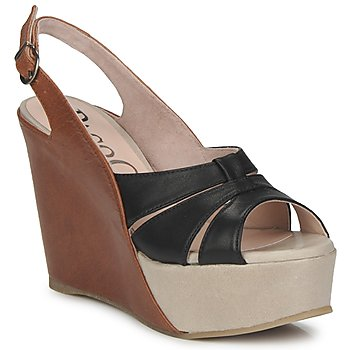 Sapatos Mulher Sandálias Paco Gil RITMO SELV Camel / Preto