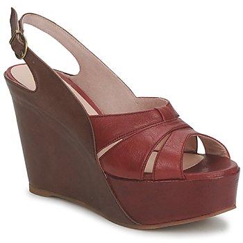 Sapatos Mulher Sandálias Paco Gil RITMO SELV Camel / Bordô