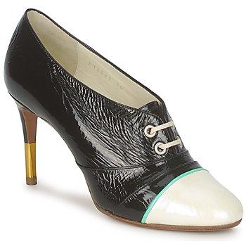 Sapatos Mulher Botas baixas Michel Perry 12691 Nacre-preto