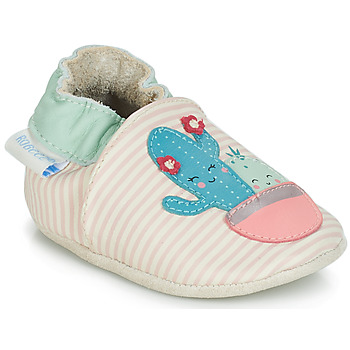 Sapatos Rapariga Pantufas bebé Robeez CACTUS Cru / Rosa