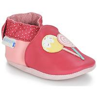 Sapatos Rapariga Pantufas bebé Robeez FUNNY SWEETS Rosa / Branco