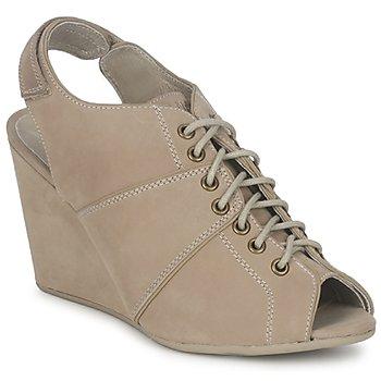 Sapatos Mulher Botas baixas No Name DIVA OPEN TOE Bege