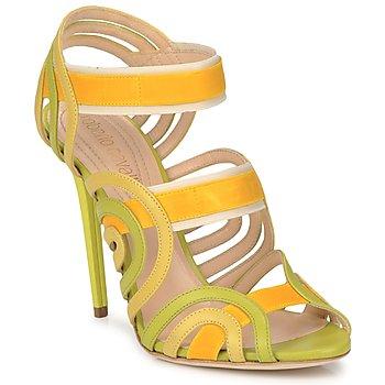 Sapatos Mulher Sandálias Roberto Cavalli RPS691 Verde / Amarelo