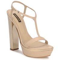 Sapatos Mulher Sandálias Roberto Cavalli RDS735 Bege / Cru
