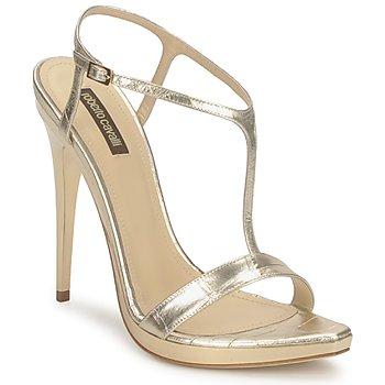 Sapatos Mulher Sandálias Roberto Cavalli RDS736 Ouro