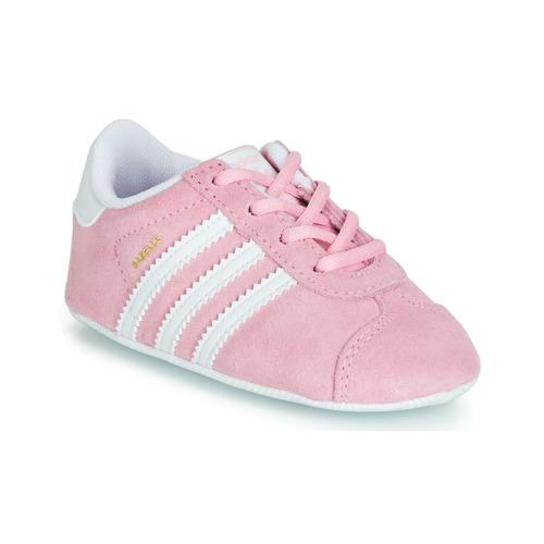 Sapatos Criança Sapatilhas adidas Originals GAZELLE CRIB Rosa