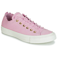 Sapatos Mulher Sapatilhas Converse CHUCK TAYLOR ALL STAR FRILLY THRILLS SUEDE OX Rosa