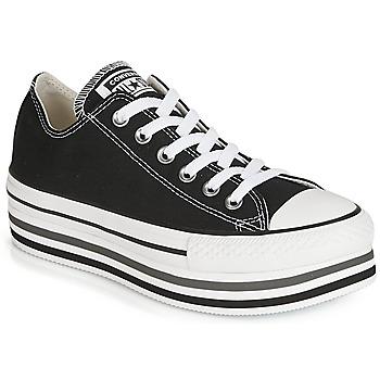 Sapatos Mulher Sapatilhas Converse CHUCK TAYLOR ALL STAR PLATFORM EVA LAYER CANVAS OX Preto