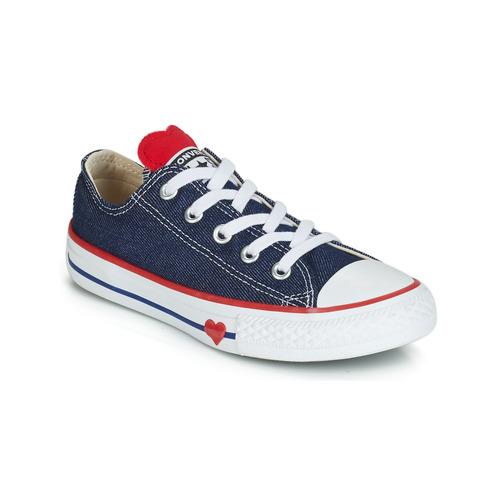 Sapatos Rapariga Sapatilhas Converse CHUCK TAYLOR ALL STAR SUCKER FOR LOVE DENIM OX Azul