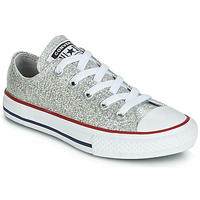 Sapatos Rapariga Sapatilhas Converse CHUCK TAYLOR ALL STAR SPARKLE SYNTHETIC OX Cinza