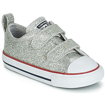 Sapatos Rapariga Sapatilhas Converse CHUCK TAYLOR ALL STAR 2V SPARKLE SYNTHETIC OX Cinza