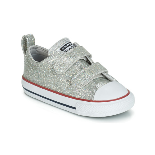 Sapatos Rapariga Sapatilhas Converse CHUCK TAYLOR ALL STAR 2V SPARKLE SYNTHETIC OX Cinza