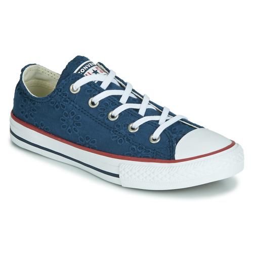 Sapatos Rapariga Sapatilhas Converse CHUCK TAYLOR ALL STAR BROADERIE ANGLIAS OX Marinho