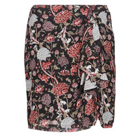 Textil Mulher Saias Ikks BN27105-02 Preto / Multicolor