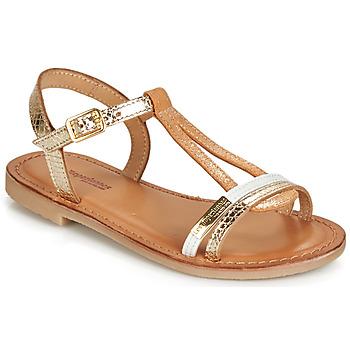 Sapatos Rapariga Sandálias Les Tropéziennes par M Belarbi BADA Ouro / Branco
