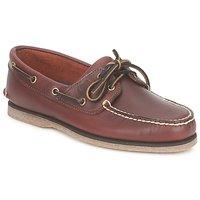 Sapatos Homem Sapato de vela Timberland CLASSIC 2 EYE Rootbeer