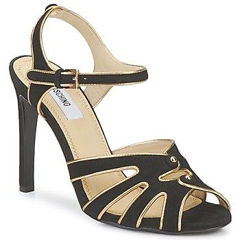 Sapatos Mulher Sandálias Moschino MA1604 Preto