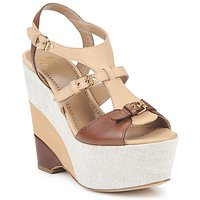 Sapatos Mulher Sandálias Moschino Cheap & CHIC STERLIZIA Bege-Castanho
