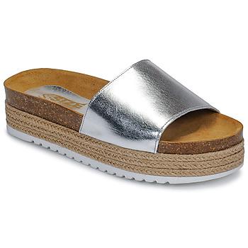 Sapatos Mulher Chinelos So Size JITRUNE Prata