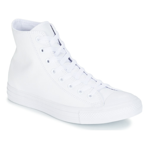 Sapatos Sapatilhas de cano-alto Converse ALL STAR MONOCHROME CUIR HI Branco