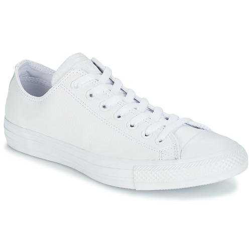 Sapatos Sapatilhas Converse ALL STAR MONOCHROME CUIR OX Branco