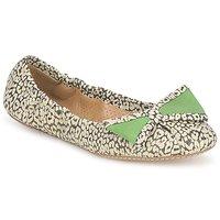 Sapatos Mulher Sabrinas Maloles BLANCHE Preto / Branco / Verde