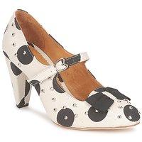 Sapatos Mulher Escarpim Maloles CLARITA Branco / Preto