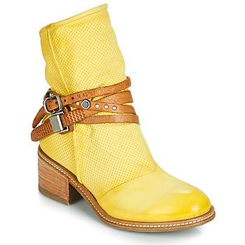 Sapatos Mulher Botas baixas Airstep / A.S.98 WINNIE STRAP Amarelo