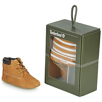Sapatos Criança Chinelos Timberland CRIB BOOTIE WITH HAT Trigo / Castanho
