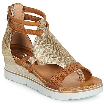 Sapatos Mulher Sandálias Mjus TAPASITA Ouro / Camel
