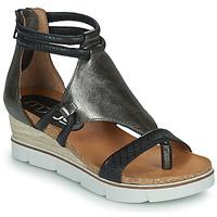 Sapatos Mulher Sandálias Mjus TAPASITA Preto / Prata