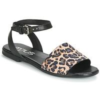 Sapatos Mulher Sandálias Mjus CHAT LEO Preto / Leopardo