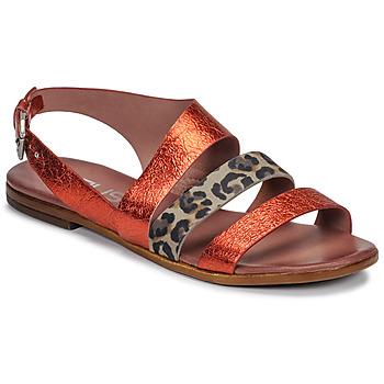 Sapatos Mulher Sandálias Mjus CHAT BUCKLE Vermelho / Leopardo