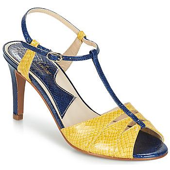Sapatos Mulher Sandálias Ippon Vintage DROP BACK Marinho / Amarelo