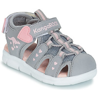 Sapatos Rapariga Sandálias Kangaroos K-MINI Cinza / Rosa