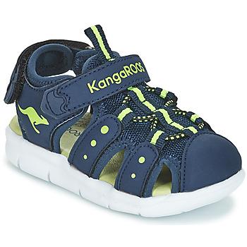 Sapatos Rapaz Sandálias Kangaroos K-MINI Marinho / Amarelo