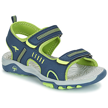 Sapatos Rapaz Sandálias Kangaroos K-LOGAN Marinho / Verde