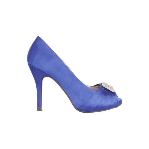 Sapatos Mulher Escarpim Glamour B038013-B7345 BLUE 39 Azul